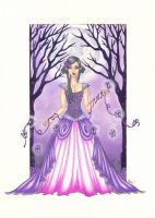Under a Violet..by blue-willow by Realm-of-Fantasy