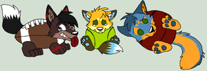 Furballs by Toby-Wolfkat