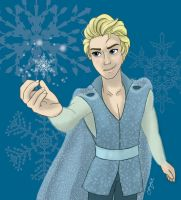 Male Elsa by OukaWolf46
