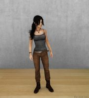 Lara Croft Cycles Render | Hair Test by Rockeeterl