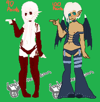 Uke Lingerie Adopts::open:: by PocketSizedDevil