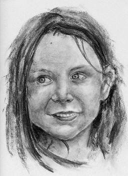 Young girl - charcoal by Mastertypo