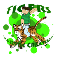Steve rides a mother trucking tiger by Ruef-Bae