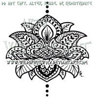 Henna Style Lotus Design by WildSpiritWolf