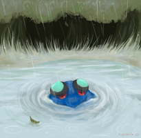 Seismitoad in the rain