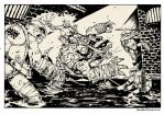 TMNT vs Slash! commission. by TheWoodenKing