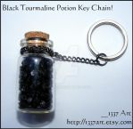 Black Tourmaline Potion by 1337-Art