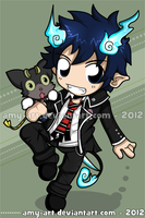 Blue Exorcist - Rin by amy-art