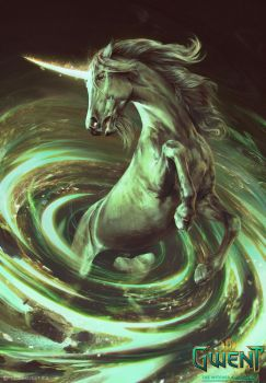 Unicorn - Gwent Card by akreon