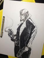Hellboy (ink/markers) by trylam