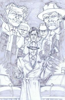 Dick Tracy by our friend Daniel Leister by AshcanAllstars