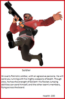 TF2 Trading Card: Soldier by UltimaWeapon13