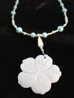 Crafted White Blossom Necklace 1 by sampdesigns