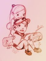.Dipper and Mabel. by heeyjayp17