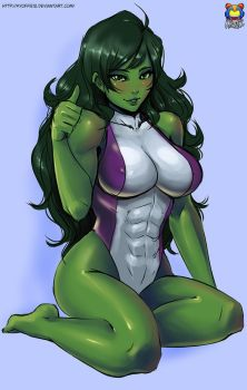 Commission: She-hulk by Kyoffie12