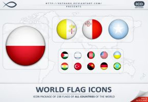 World Flag Icons ICO by Vathanx