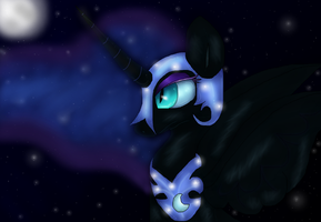 Nightmare Moon by PlagueDogs123