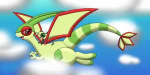 Flygon and Vibrava by DreamyNormy