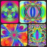 Collage of fractals. Merry recess. by Mladavid