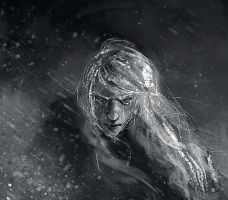 Finrod crossing the Helcaraxe - close-up by WisesnailArt