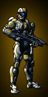 Spartan IV Cell-Shaded by inuyasha0987