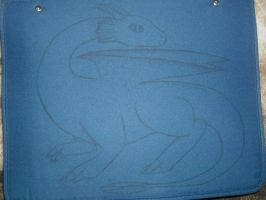 Dragon pose on binder by TwilightDragon01