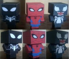 Spider-Man Cubee by paperart