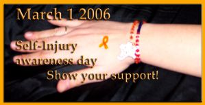 Self Injury awareness day by BloodyKisses56