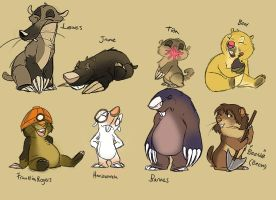 Mole and gopher characters lol by Konnestra