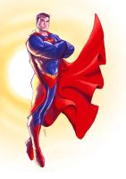 SUPERMAN coloured by deemonproductions