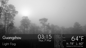 Real Weather HD FULL SCREEN for xwidget by jimking