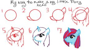 My way to make a my little pony head by kaitolova