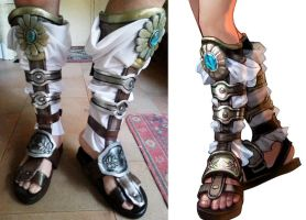 Sophitia's Boots! by Daisy-Cos