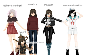 my self-model's versions by MoonyWitcher