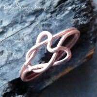 He Loves Me KNOT Ring in Copper by che4u