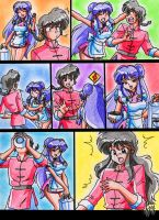 Shampoo and Ranma - magical ramen 1 by batjap