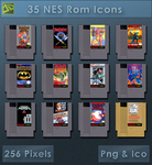 NES Roms [Cartridge Icons] by VoidSentinel
