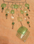 Recycled PET bottles necklace by Nanahuatli