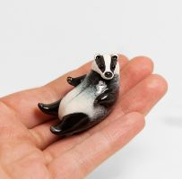 Badger Figurine by RamalamaCreatures