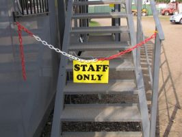 Stock - Staff Only Sign by ladykraut