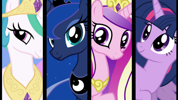 The Princesses of Equestria by neodarkwing