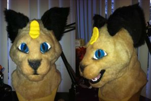 Semi Realistic Siamese Cat Head For Sale by VampireSin