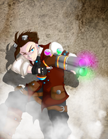 {CONTEST} Outcast Odyssey: SteamPunk warrior by audettes
