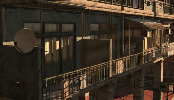 Commercial district construction kit balcony by PixelMonger75