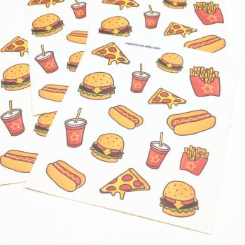 Junk Food stickers by FrozenNote