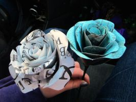Paper Roses by mezzamorphic