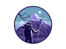 Climber Badge by Icondesire