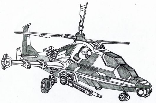 Attack Helicopter by Vladimir3d