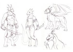 dragons_sketch by davi-escorsin