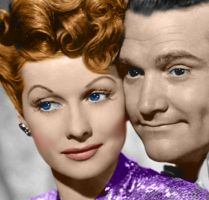 Lucille Ball and man colored by cmarez